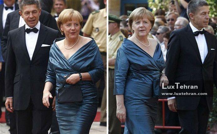زنان سیاستمدار جهان تصویر آنجلا مرکل صدر اعظم آلمان و یواخیم سائور