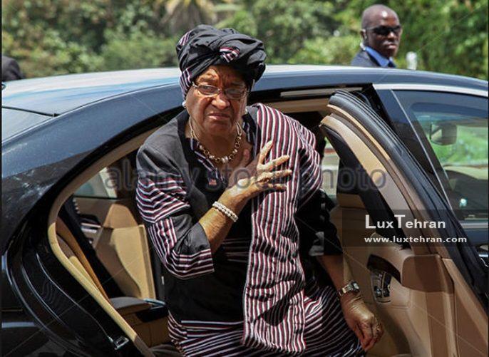 طرحی از استایل های رسمی الن جانسون رهبر لیبریا زنان سیاستمدار جهان