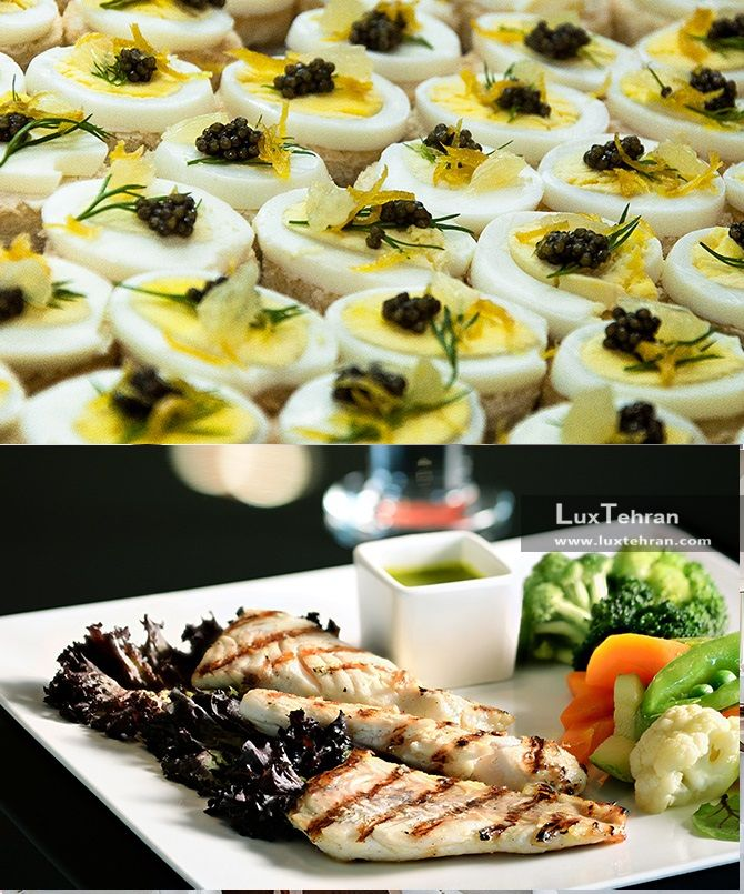 تصویر غذاهای طبخ شده در رستوران ایتالیایی هتل استقلال تهران