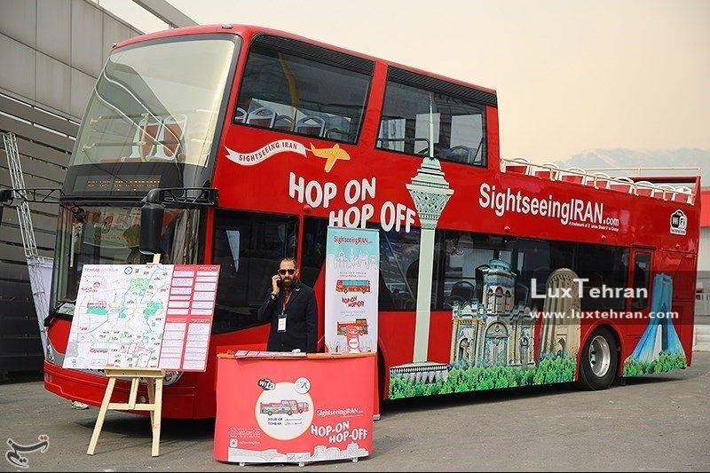 اتوبوس گردشگری که در دهمین دوره نمایشگاه بین المللی تهران به نمایش در آمد