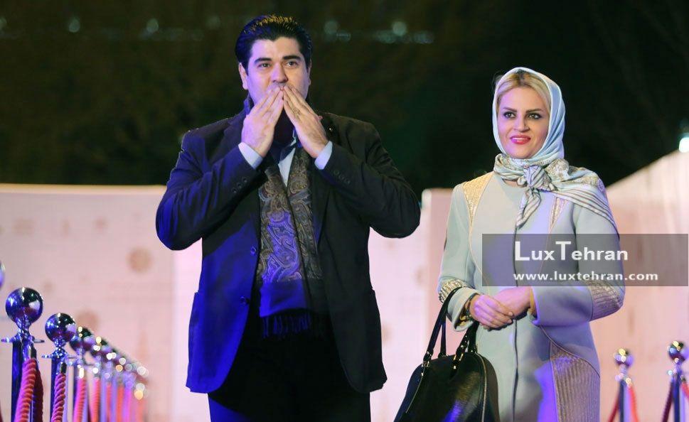 تیپ سالار عقیلی و همسرش در جشنواره موسیقی فجر تهران