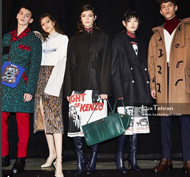 کالکشن KENZO هستیم که طرح های لباس مردانه و زنانه لویی ویتون را در سال ۲۰۱۸ میلادی