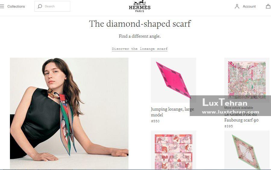 استایل های رنگارنگ روسروی های طرح الماس (DIAMOND SHAPED SCARF)