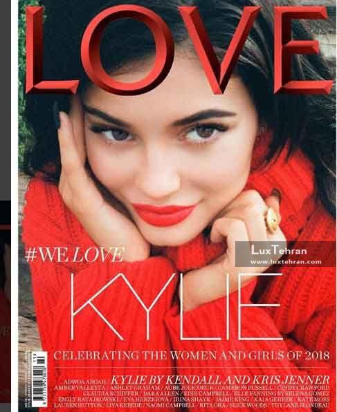 از پر طرفدارترین پیج های اینستاگرام کایلی جنر را بر روی جلد مجله LOVE