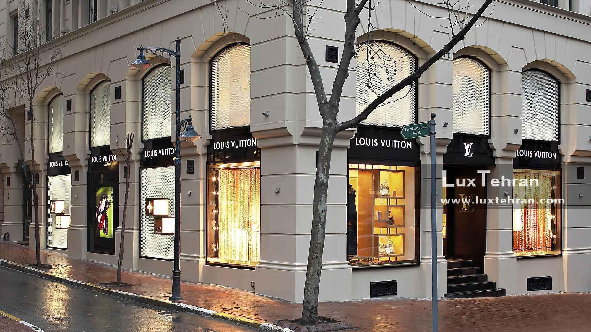 تصویری از استایل فروشگاه های لویی ویتون در استانبول