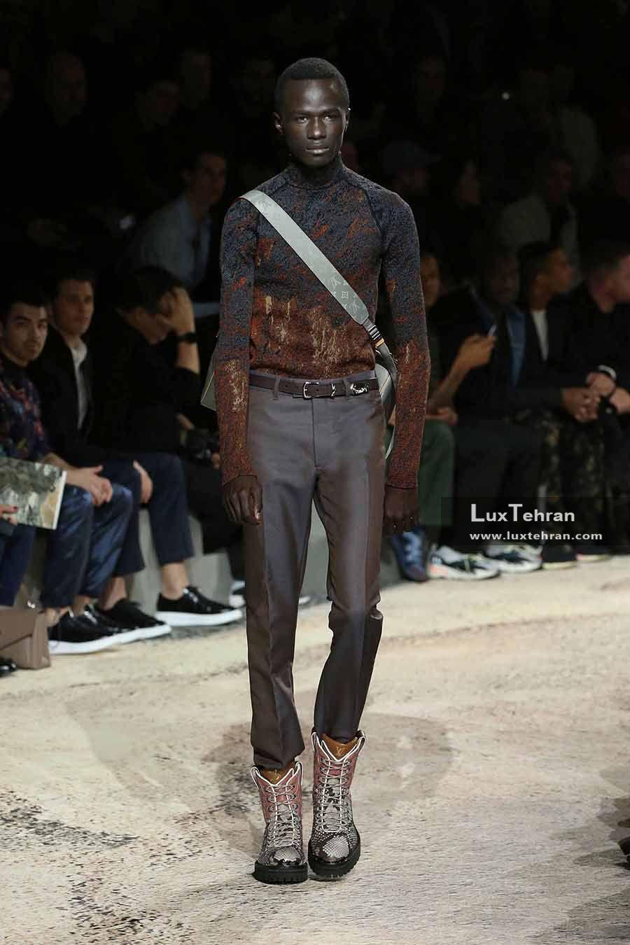 کفش ساق بلند چرمی لویی ویتون مردانه