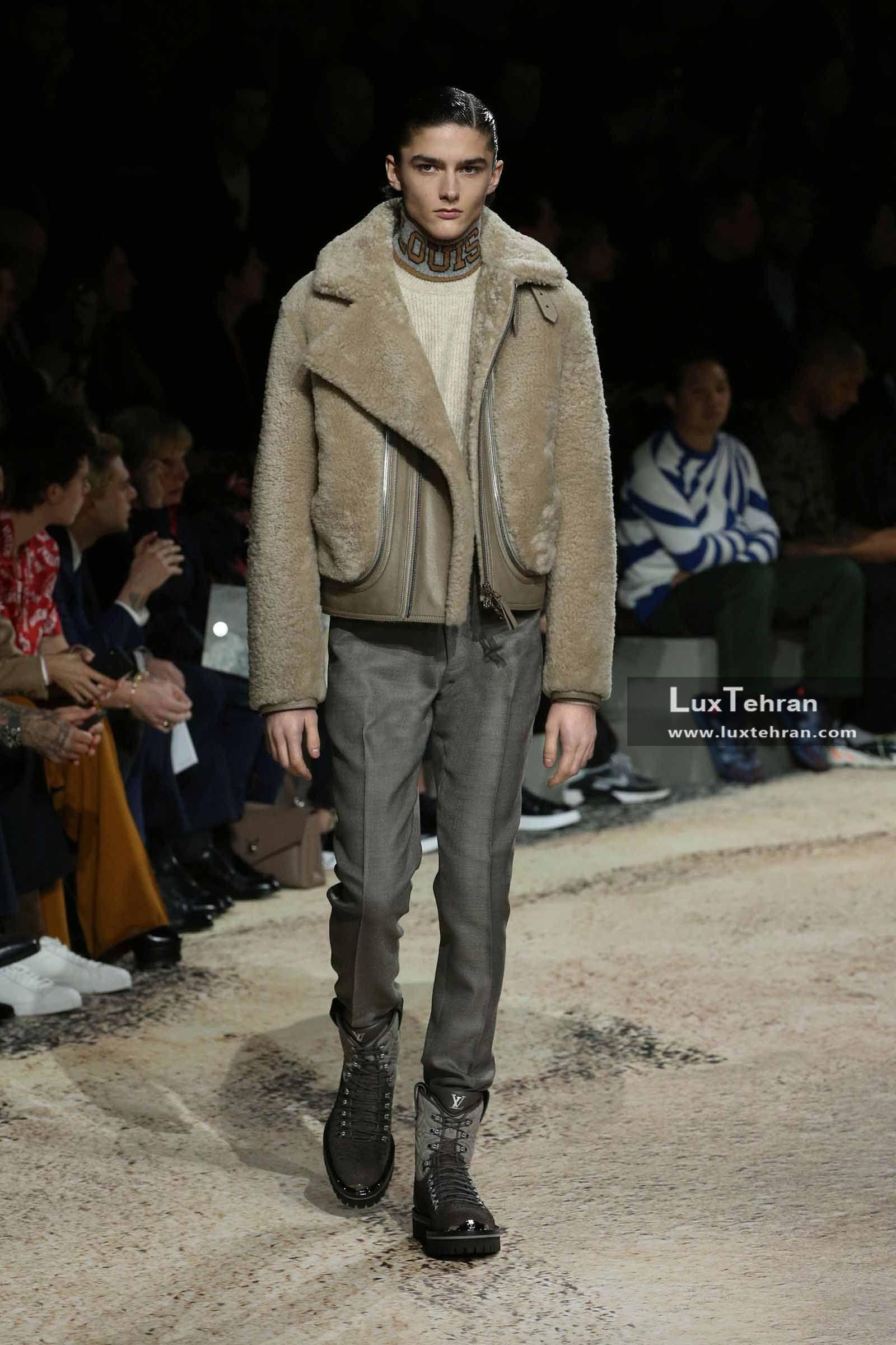 کاپشن چرمی کوتاه خوش طرح و استایل لباس مردانه لویی ویتون
