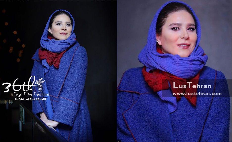 استایل آبی رنگ جذاب و شیک بالا متعلق به حضور خانم سحر دولتشاهی