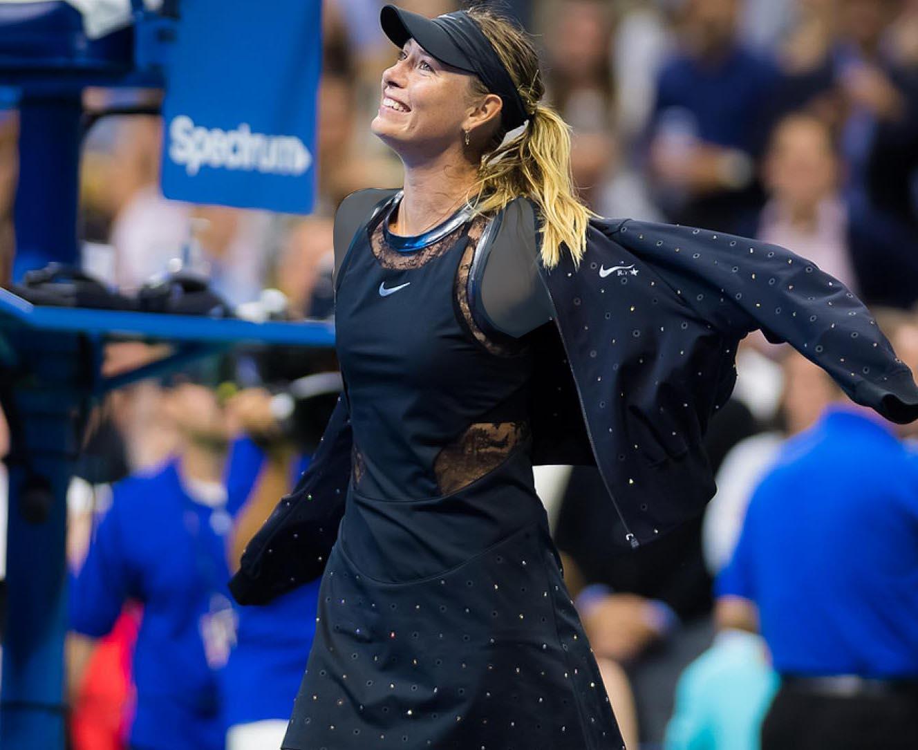 لباس فاخر ۱۲۰۰ دلاری ماریا در رقابت های تنیس آزاد آمریکا