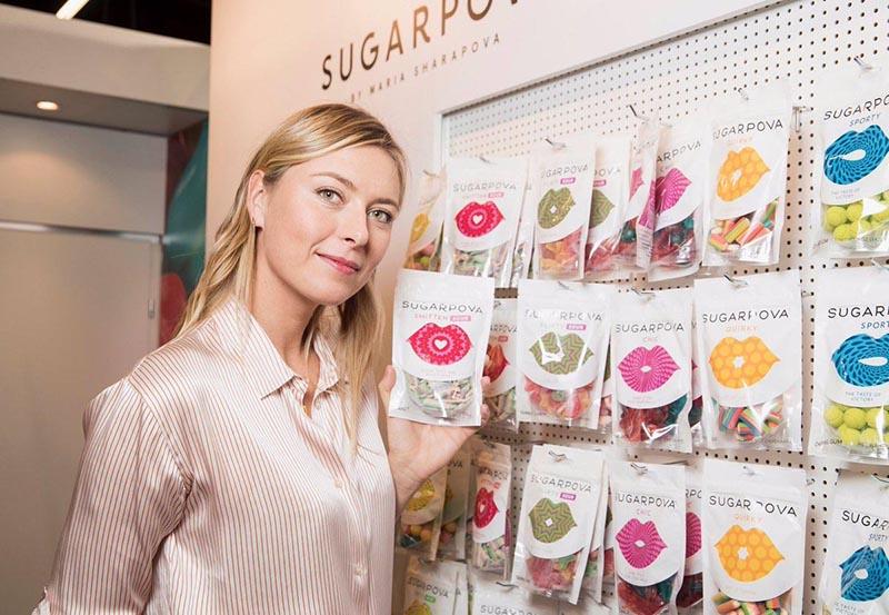 (SUGARPOVA برند مواد غذایی ماریا شاراپووا
