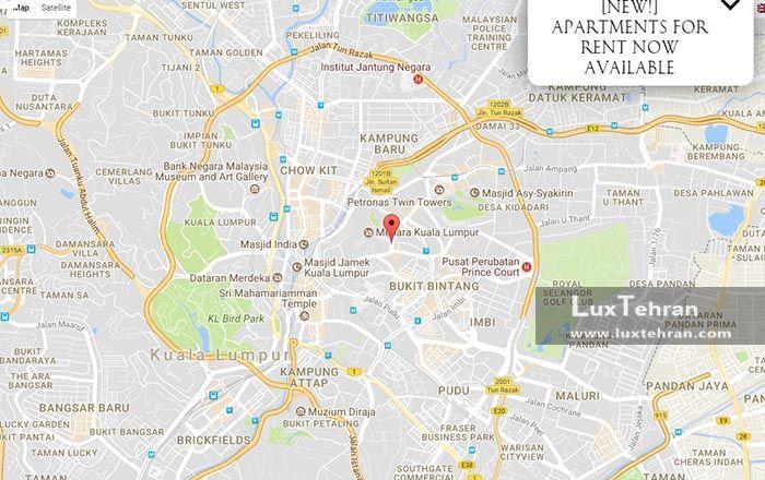 موقعیت هتل پاسفیک ریجسنی کوالالامپور را بر روی نقشه