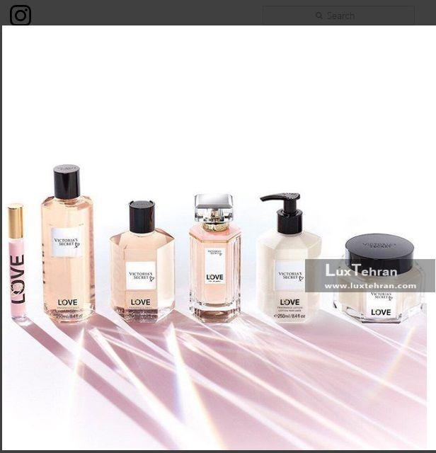 عکسی از محصولات آرایشی و بهداشتی این برند از کالکشن LOVE