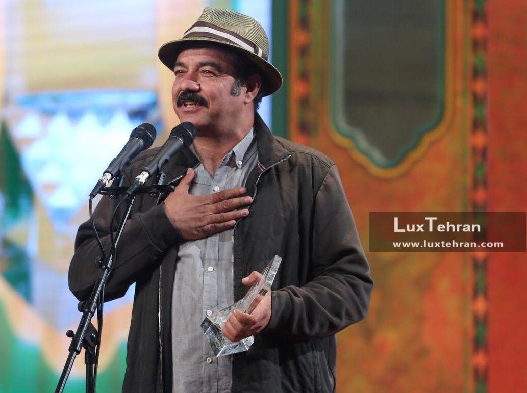 تیپ خیلی ساده سعید آقاخانی در اختتامیه سی و ششمین جشنواره فیلم