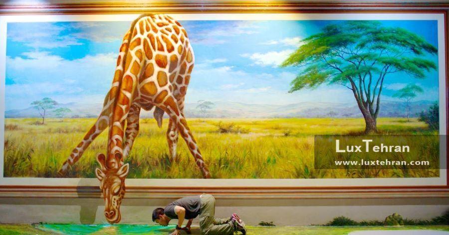 تابلویی از گالری هنر در پارادایز تایلند