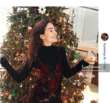 استایل کریسمس و درخت کاج منزل