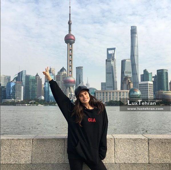 سارا سامپایو به همراه انجل های ویکتوریا سکرت به شانگهای چین رفته است