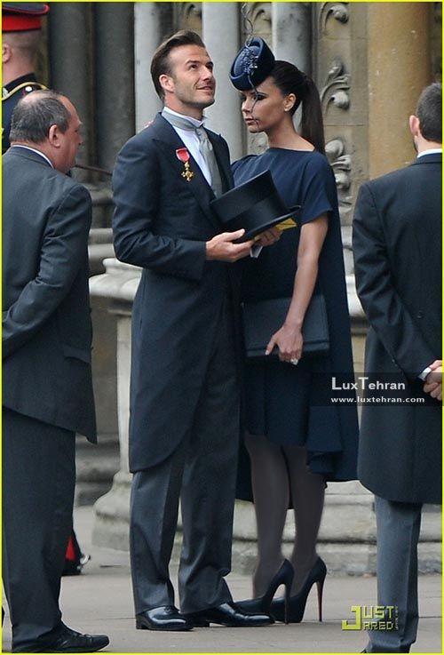 دیوید بکام و همسرش ویکتوریا
