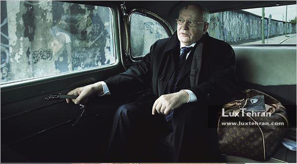 میخاییل گورباچف رهبر اتحاد جماهیر شوروی سابق در کمپین تبلیغاتی لویی ویتون