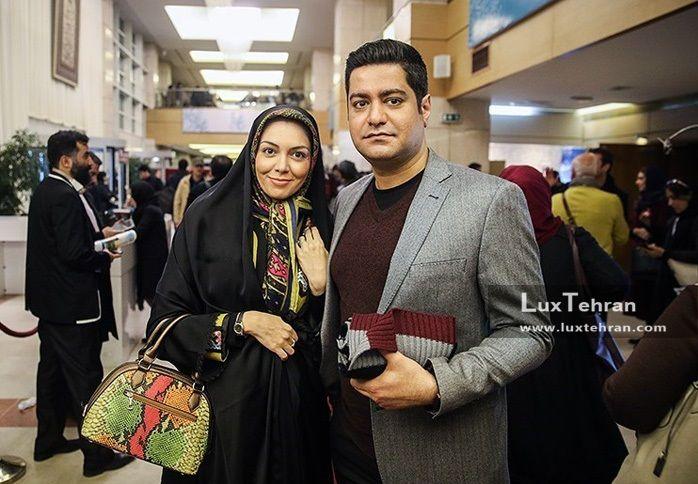 حضور آزاده نامداری و همسرش در جشنواره فیلم فجر