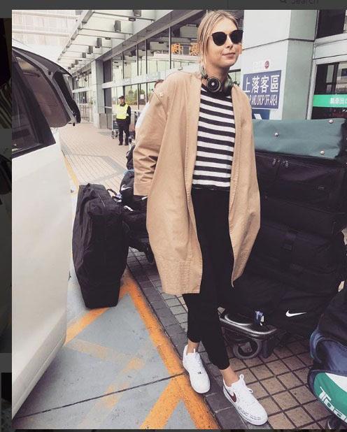 استایل ماریا شاراپووا در سفر به چین