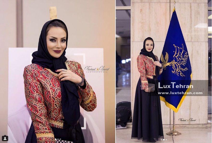 استایل خانم خورشید سعیدی را در مراسم افتتاحیه سی و ششمین جشنواره فیلم فجر