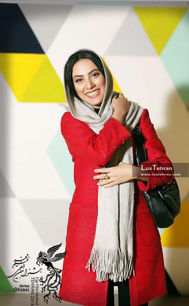 مونا فرجاد در اکران فیلم سرو زیر آب در سی و ششمین جشنواره فیلم فجر