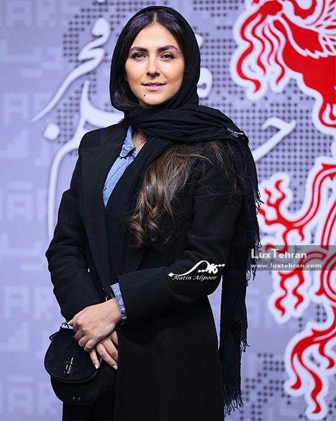 تیپ تمام مشکی هدی زین العابدین