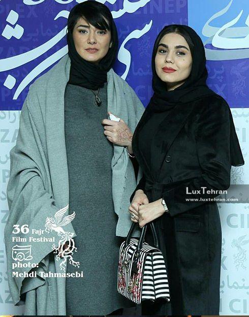 تیپ مانتو آزاده زارعی و مونا وحید در سی و ششمین جشنواره فیلم فجر