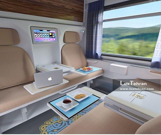 طراحی لاکچری قطارهای لوکس فدک