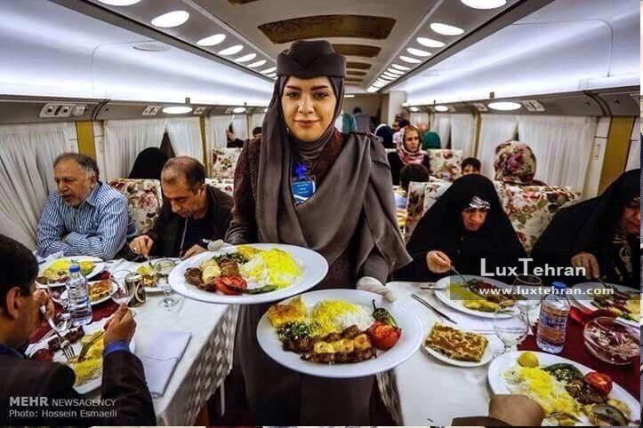 سرو غذا در رستوران قطار لوکس ۵