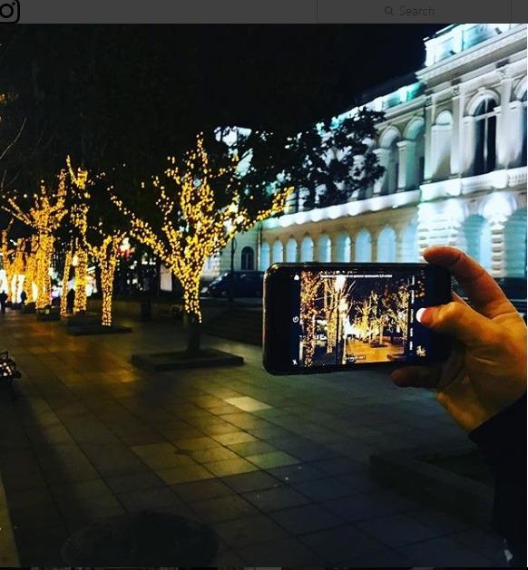 خیابان های تفلیس گرجستان را در آستانه کریسمس ۲۰۱۸ میلادی