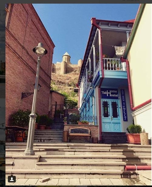 منطقه قدیمی شهر تفلیس در گرجستان