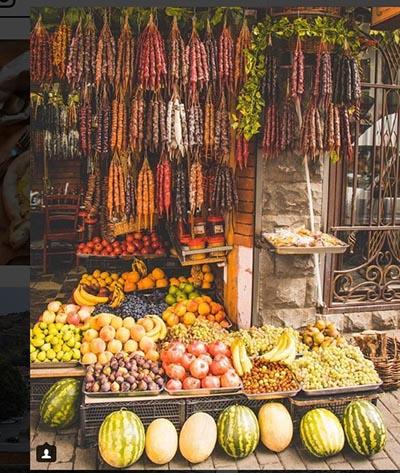 انواع و اقسام میوه ها در شهر تفلیس گرجستان