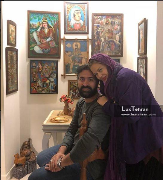بهاره رهنما و همسرش آقای عباسی
