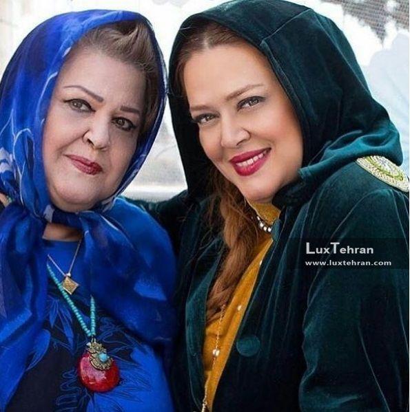 بهاره رهنما در کنار مادرش به مناسبت روز زن