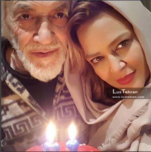 بهاره رهنما در کنار کیک تولد ۸۱ سالگی پدرش