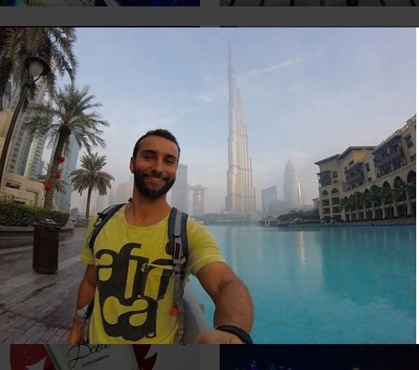 گردشگر اسپانیایی در دبی گردی