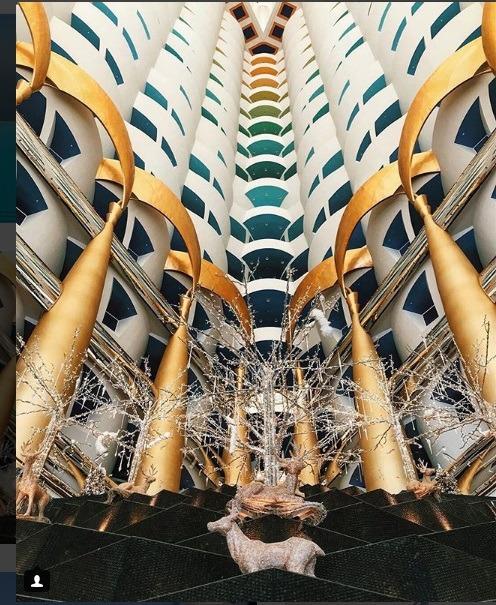 معماری داخلی برج العرب دبی