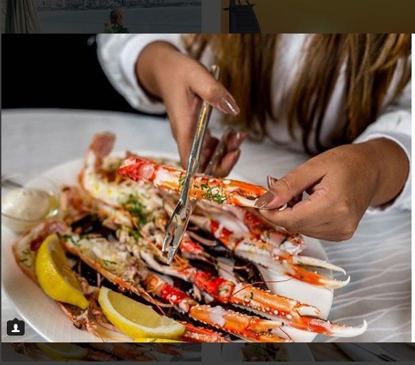 غذاهای دریایی رنگارنگ برای دبی گردی