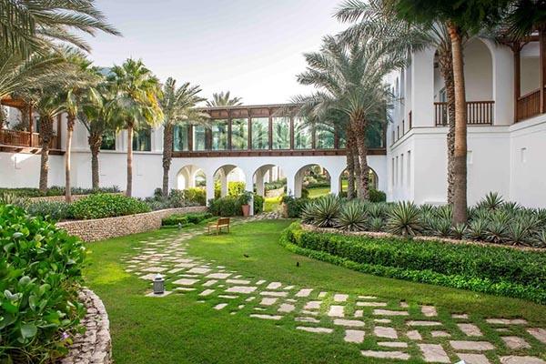 نخل های پارک حیاط دبی برای دبی گردی