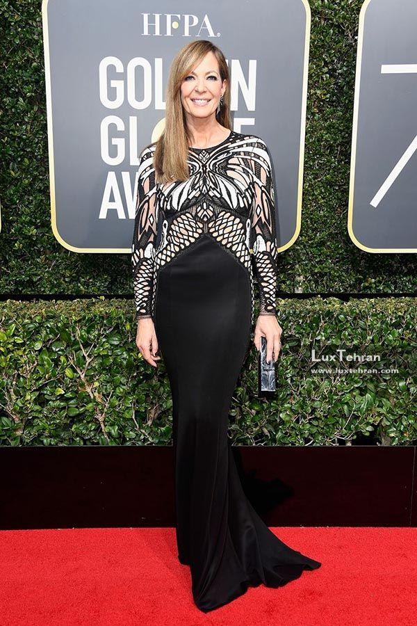 لباس مشکی بلند پوشیده آلیسون جنی