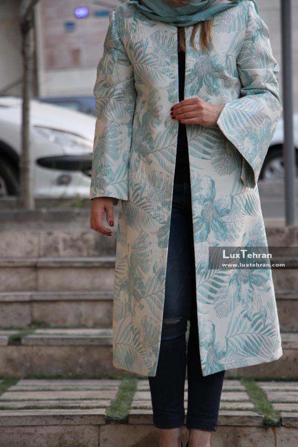 مدل مانتو بلند ژاکارد