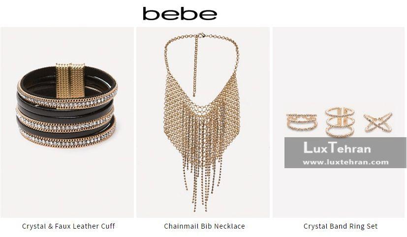 حلقه و گردن بند و دستبند کریستالی