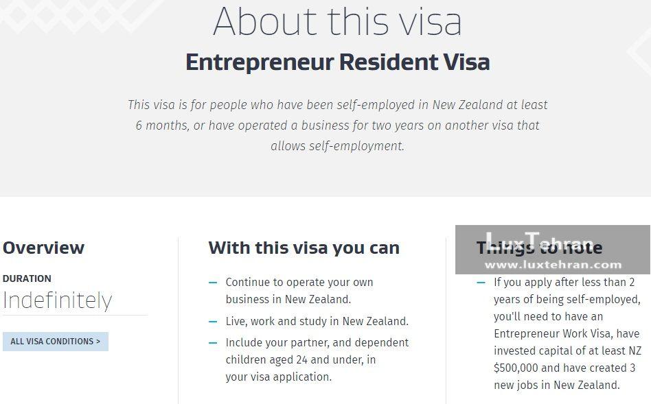 روادید کارآفرینی نیوزلند