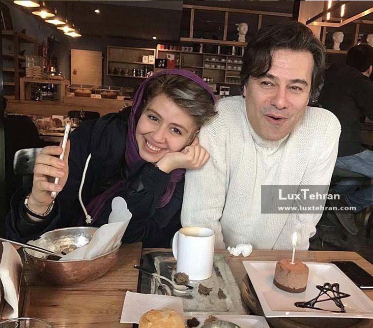 پیمان قاسم خانی و دخترش پریا