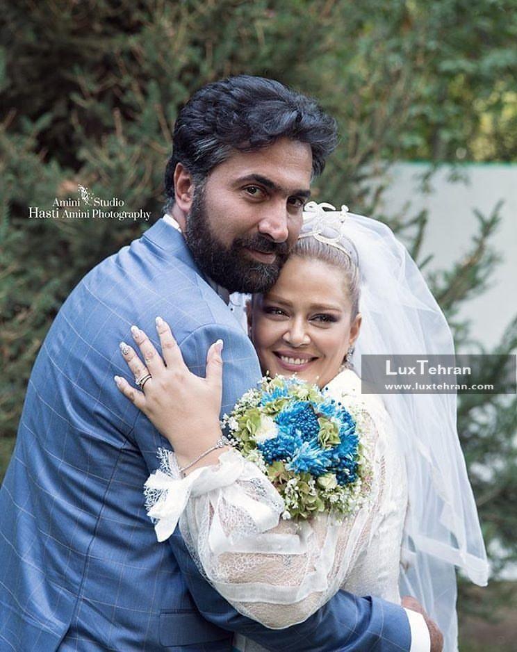 بهاره رهنما در آغوش همسر دومش