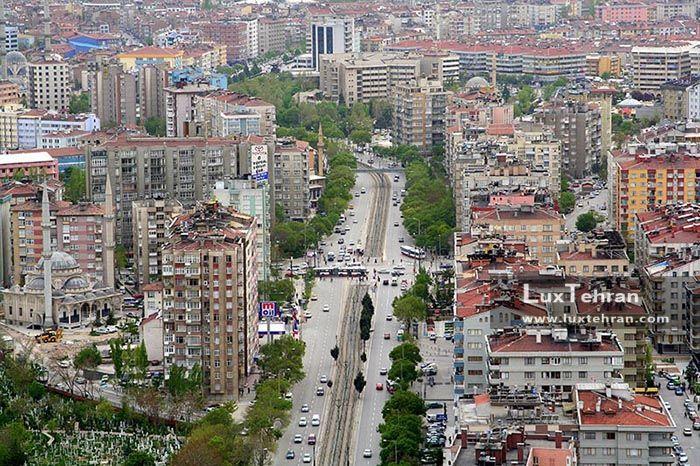 تصویر هوایی از خیابان Nalcaci قونیه