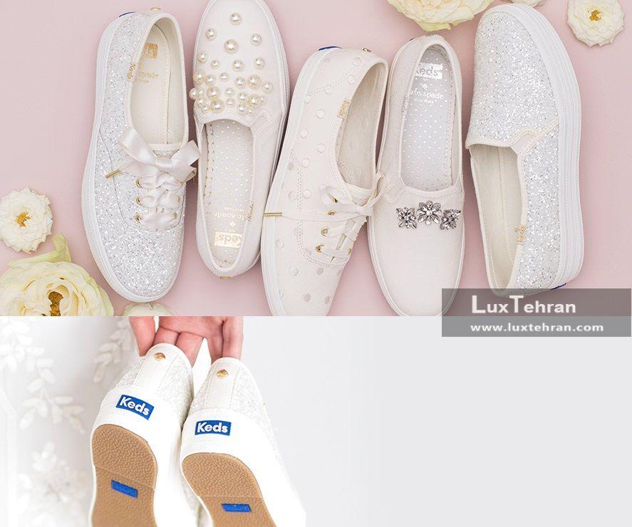 کفش های سفید مخصوص نامزدی و عروسی از برند کدز