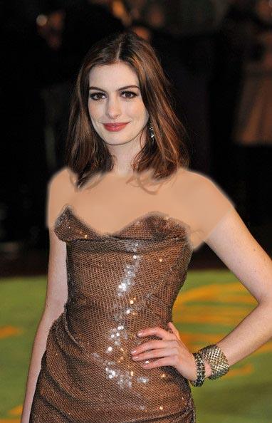 مدل مو قهوه ای روی شانه آن هاتاوی