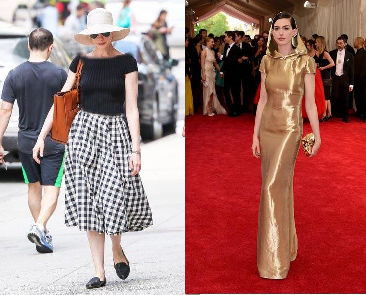 لباس طلایی رنگ آنا هاتاوی